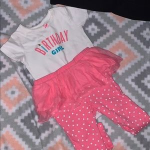 Birthday Girl outfit 12m